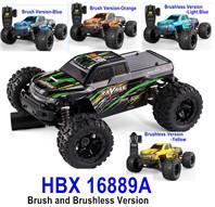 >HBX 16889 RC Car,HBX 16889 RAVAGE RC Truck,1/16 Brush and Brushless Version Buggy