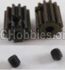 HBX Survivor MT 12811-Motor Pinion Gears 12T(12 Teeth) & Set Screws-3X3mm-12060
