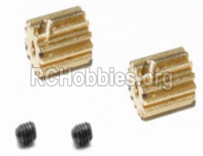 HBX Survivor MT 12811-BRUSHLESS Upgrade Metal Motor Pinion Gears 16T-& Set Screws 33mm-12528
