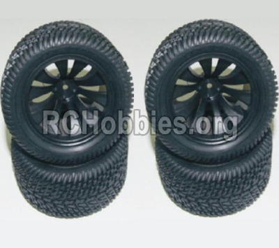 HaiBoXing HBX 12812 Wheels Complete-(Include the Wheel hub and Tire lether) 12056