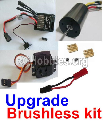 HaiBoXing HBX 12812 Upgrade Brushless kit(Include ESC,Brushless motor,Sero,motor gear,screws,and wire)