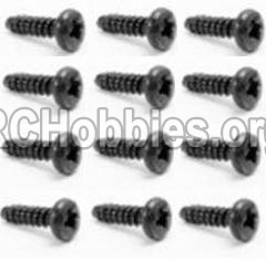 HaiBoXing HBX 12812 Screw Round Head Self Tapping Screw-2.6x8mm-S018