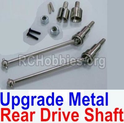 HBX 12813 Upgrade Metal Rear CVD Shaft & nuts & screws & wheel pins & Metal Differential Cup-(Total For Rear Car) 12711