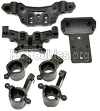 HBX 12813 Front And Rear shockproof board,Shock Absorbers board & Rear wheel seat-& Steering Cup-12605R