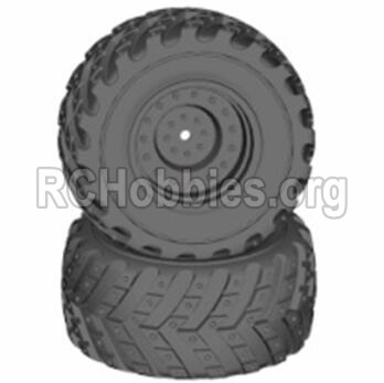 HBX 12813 Wheels Wheels Complete-(Include the Wheel hub and Tire lether) 12621