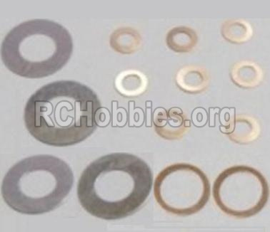 HBX 12813 Washers 4PCS(φ6.3X12.5X0.2mm) & Washers-8PCS(φ2.7X5.5X0.3mm) & Washers-φ8.2X10.5X0.3mm) 12617