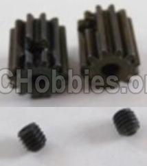 HBX 12813 Motor Pinion Gears 13T(13 Teeth)& Set Screws-3X3mm-12026