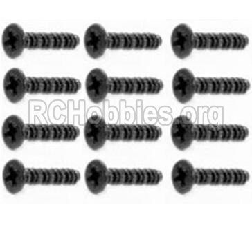 HBX 12813 Screw Round Head Self Tapping Screws-2.6X25mm-S201