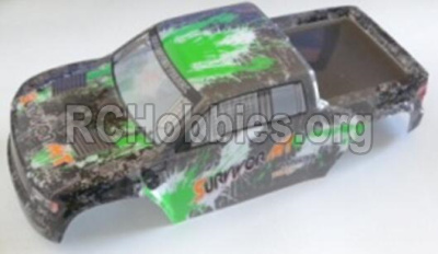 HBX 12813 Body shell cover Truck Body shell,Car shell-Green 12688