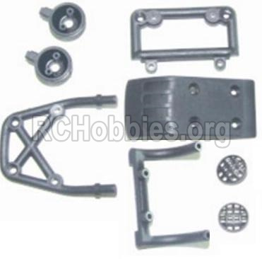 HBX 12881 VORTEX Front bottom seat Assembly & Light cover & Front upper seat 12014