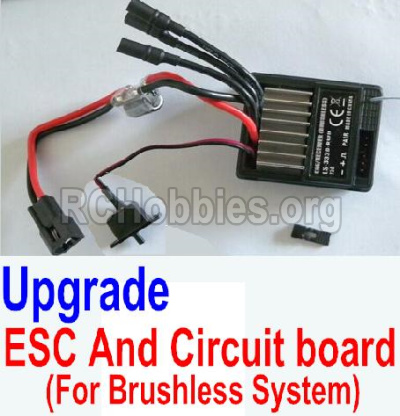 HBX 12881 VORTEX Upgrade Brushless ESC and Circuit board 12216