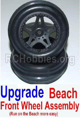 HBX 12881 VORTEX Upgrade Front Beach Wheels assembly(2 set)-Include Tire lether and wheel hub 12117
