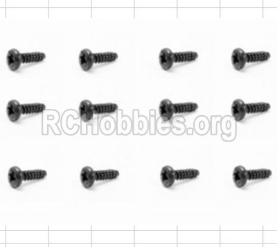 HBX 12881 VORTEX Screws-Round Head Self Tapping Screw-2.6X6mm-S089