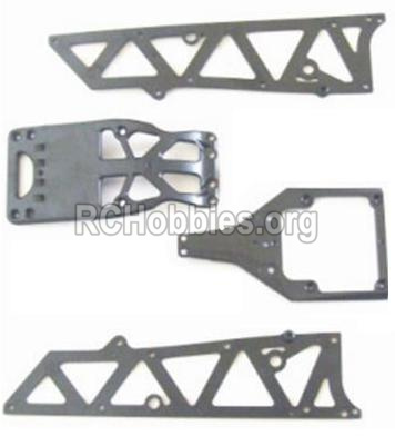 HBX 12882P ONSLAUGHT Front side panel & motor cover & upper Steering seat 12002P