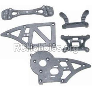 HBX 12882P ONSLAUGHT Chassis Side Plates B & Shock Absorbers board 12006