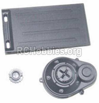 HBX 12882P ONSLAUGHT Battery Door & Motor Gear Cover 12012