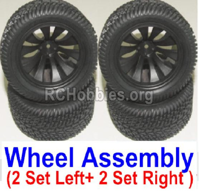 HBX 12882P ONSLAUGHT wheel Left and Right wheel assembly(4 set-2x Left and 2X Right) 12056
