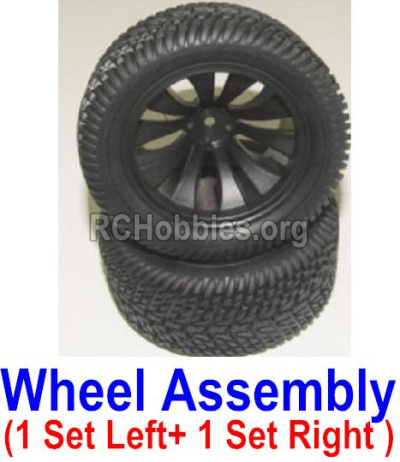 HBX 12882P ONSLAUGHT wheel Left and Right wheel assembly(2 set-1x Left and 1X Right) 12056