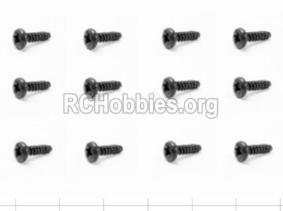HBX 12882P ONSLAUGHT Screws S100 Round Head Screw-2.5X8mm