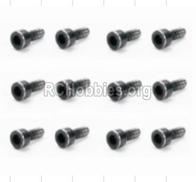 HBX 12882P ONSLAUGHT Screws Cap Head Screws-2X6mm-S165