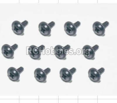 HBX 12882P ONSLAUGHT Flange Head Self Tapping Screws-2.3X8mm-S167