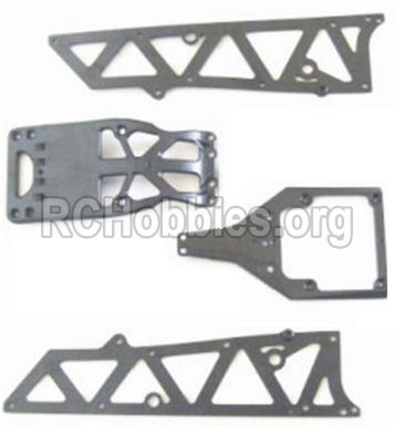 HBX 12883 GROUND CRUSHER Front side panel & motor cover & upper Steering seat 12002P