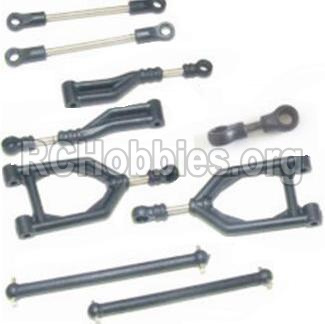 HBX 12883 GROUND CRUSHER Front Upper or Rear Upper Swing Arm & Steering Linkage set & Servo Linkage Set & Servo shaft 12003