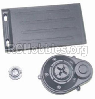 HBX 12883 GROUND CRUSHER Battery Door & Motor Gear Cover 12012