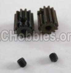 HBX 12883 GROUND CRUSHER Motor Pinion Gears-13Teeth & Set Screws-3X3mm-12026