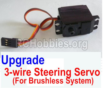 HBX 12883 GROUND CRUSHER Upgrade Brushless 3-wire Steering Servo 12224