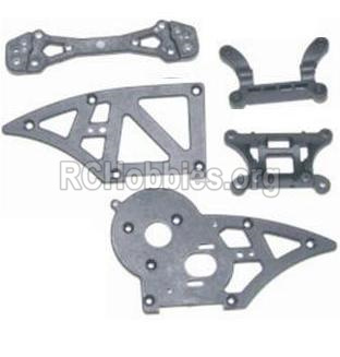 HBX 12885 Iron Hammer Chassis Side Plates B & Shock Absorbers board 12006