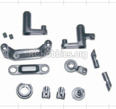 HBX 12885 Iron Hammer Steering Assembly & Servo Saver Assembly & Battery Door Block,Battery Door Lock 12009P