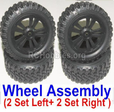 HBX 12885 Iron Hammer Left and Right wheel assembly(4 set-2x Left and 2X Right) 12065