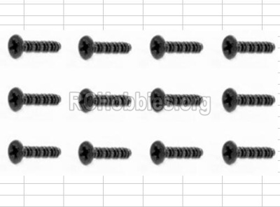HBX 12885 Iron Hammer Countersunk Self Tapping Screw-2.6X18mm-S162