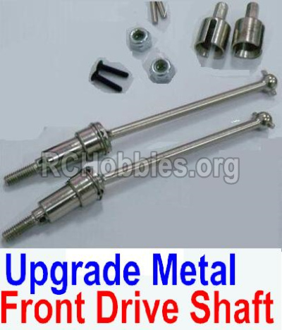 HBX 12891 Upgrade Metal Front CVD Shaft & nuts & screws & wheel pins & Metal Differential Cup-(Total For Front Car) 12710C