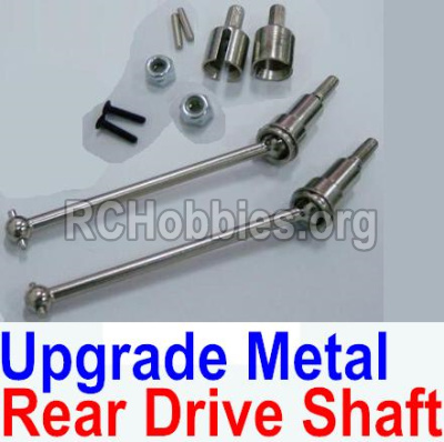 HBX 12891 Upgrade Metal Rear CVD Shaft & nuts & screws & wheel pins & Metal Differential Cup-(Total For Rear Car) 12711C