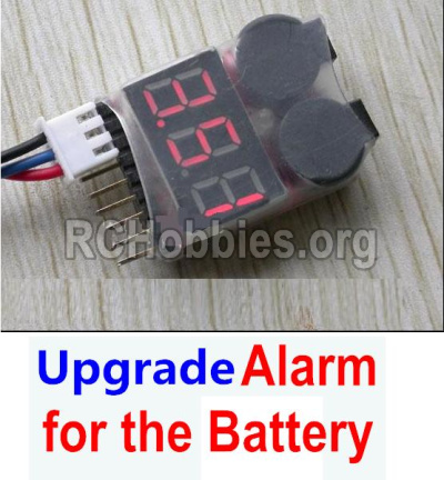 HBX 12891 Upgrade Alarm for the Battery,Can test whether your battery has enouth power