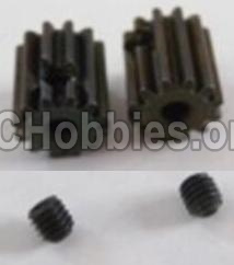 HBX 12891 Motor Pinion Gears 13T(13 Teeth)& Set Screws-3X3mm-12026