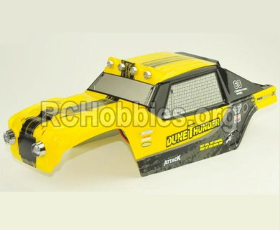 HBX 12891 Body shell cover-Desert Truck Shell,Car shell-Yellow 891-B001