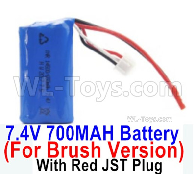 HBX 16889 Battery Pack,7.4v 700mah Li-ion Battery,With Red JSt Plug