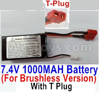 HBX 16889 Brushless Battery Packs-7.4V 1000mAH 25C LIPO Battery-T Plug