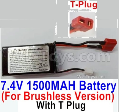HBX 16889 Brushless Battery Packs-7.4V 1500mAH 25C LIPO Battery-T Plug