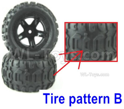 HBX 16889 Wheel Complete-Tire pattern B-M16055
