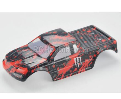 HBX Rampage 18859E Body shell,RC Car shell-Red PartsB001