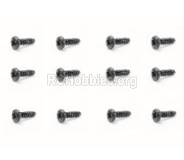 HBX Rampage 18859E Screws Pan Head Self Tapping Screw-PMHO2x6mm