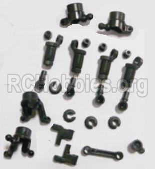 HBX 2138 Fire Runner anti-Shocks Assembly & Steering Cups & Rear Shaft sleeve 25002R