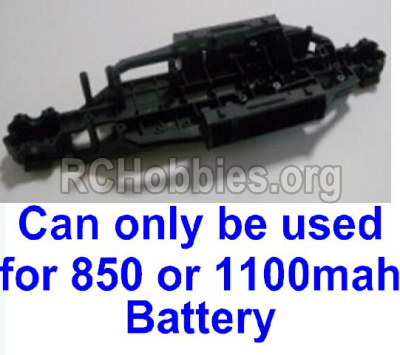 HBX Survivor MT 12811 Car Parts-Chassis,Bottom frame parts-12600R-(Can only be used for 1100mah or 850mah battery),(Now,This pars has no produce ,please buy upgrade 1500mah Chassis,Bottom frame also buy the 1500mah battery ,then can solve the problem)