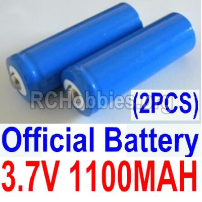 HBX Survivor MT 12811 Car Parts-Official 3.7V 1100mAH Battery(Li-ion Batteries)-2pcs-Parts-12619A, (This parts now has no produce ,you can buy the upgrade 1500mah battery ,and buy 12600BT Chassis,Bottom frame(For 1500mah) together)