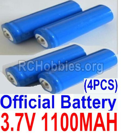 HaiBoxing HBX 12811 Parts-Parts Official 3.7V 1100mAH Battery(Li-ion Batteries)-4pcs-Parts-12619A, (This parts now has no produce ,you can buy the upgrade 1500mah battery ,and buy 12600BT Chassis,Bottom frame(For 1500mah) together)