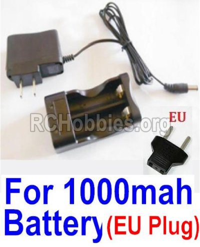 HBX Survivor MT 12811 Car Parts-Charge Box and Charger parts-25206(Europen Standard Socket)-(Can only be used for 1000mah Battery)